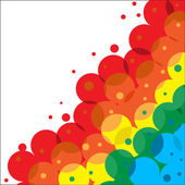Framework from colour circles — Stock Vector