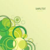 Stylish green banner — Stock Vector