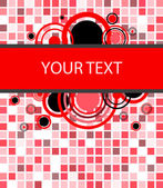 Stylish red banner. Vector illustration — Stock Vector