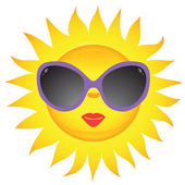 Sun icons. Vector illustration — Stock Vector