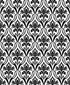 Black and white seamless pattern — Stock Vector
