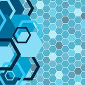 Stylish blue banner. Vector illustration — Stock Vector