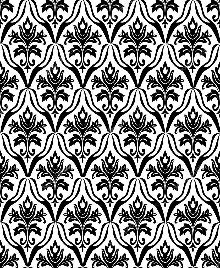 Black and white seamless pattern. Vector illustration — Stok Vektör #1150454