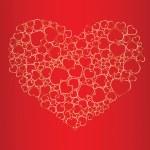 Valentine seamless background — Stock Vector