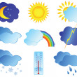 Royalty-Free Stock Vector Image: Icons with images weather