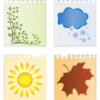 Royalty-Free Stock Imagen vectorial: Leaves of a calendar