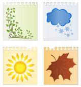 Leaves of a calendar — Stock Vector