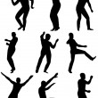 Royalty-Free Stock Vector Image: Collection of dancing young men