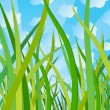 Ecological background with grass — Stock Vector #1731428