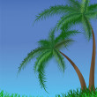 Summer background with palm trees — Stock Vector #1731576