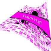 Stylish square banner — Stock Vector