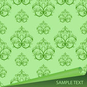 Sample of a fabric with drawing — Stock Vector