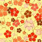 The orange flower background — Stock Vector