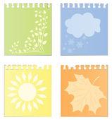 Blätter eines kalenders — Stockvektor