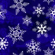 Blue background with snowflakes — Imagens vectoriais em stock