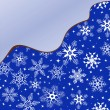 Blue background with snowflakes — Vettoriali Stock