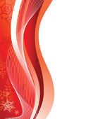 Red winter frame. Vector illustration — Stock Vector