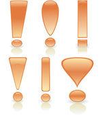 Coleção de pontos de exclamação — Vetorial Stock
