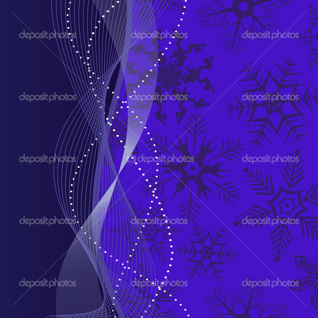 Background with snowflakes in red colour. Vector illustration — Stock Vector #1818414