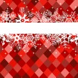 Red winter banner with snowflakes — 图库矢量图片