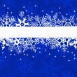 Stock Vector: Blue winter banner with snowflakes