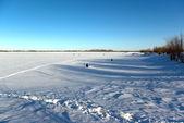 On winter lake. — Stock Photo