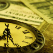 Stock Photo: Time is money stylized as antiqu