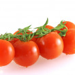 Few fresh tomatoes with water drops — Stock Photo