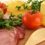 Fresh ingredients for making pasta — Stock Photo #1141750