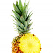 Fresh ripe pineapple with slices — Stock Photo