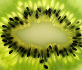 Extrime close up of kiwi fruit — Stock Photo