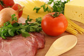 Fresh ingredients for making pasta — Stock Photo