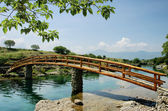 Idyllic rural scene with bridge — Foto de Stock