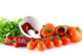 Raw fresh ingredients for sause — Stock Photo