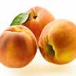 Three ripe fresh peaches — Stock Photo #1155578