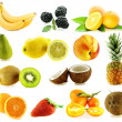 Stock Photo: Set of frash ripe different fruits