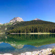 Royalty-Free Stock Photo: Panorama of mountain lake over blue sky