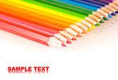 Varios de los lápices de colores con reflexivo — Foto de Stock