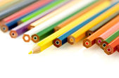 Various of colored penciles — Stock Photo