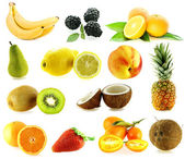 Set of frash ripe different fruits — Stock Photo