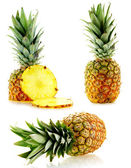 Set of fresh ripe pineapples — Stock Photo