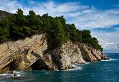Mediterranean coastline with rock — Stock Photo