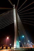 Night shot of modern bridge — Stock Photo