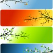 Royalty-Free Stock Vector Image: Four seasons banners