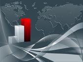 Abstract bar graphs — Stock Vector