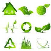 Vector environmental simbols — Stock Vector