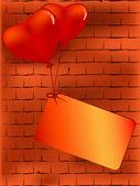 Vector Valentine backdrop — Stock Vector