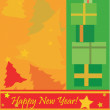 Stock Vector: New Year postcard