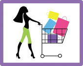 Girl on shopping — Stock Vector