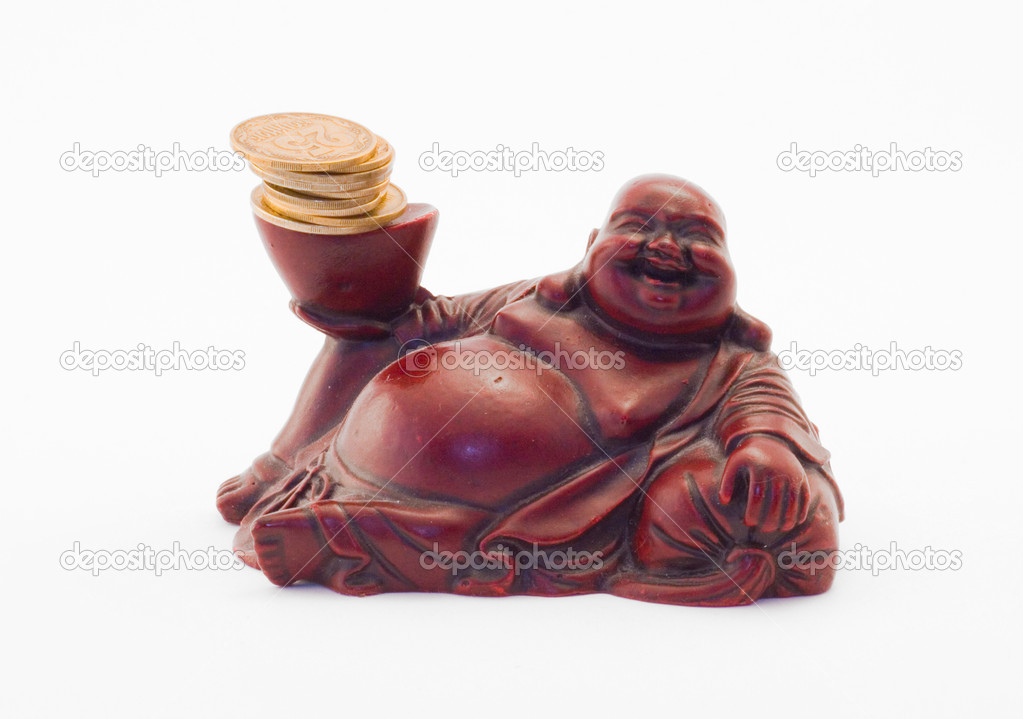 Statuette of Japanese god — Stock Photo #1267698
